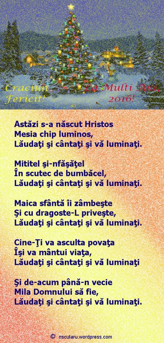 Astazi s-a nascut Hristos